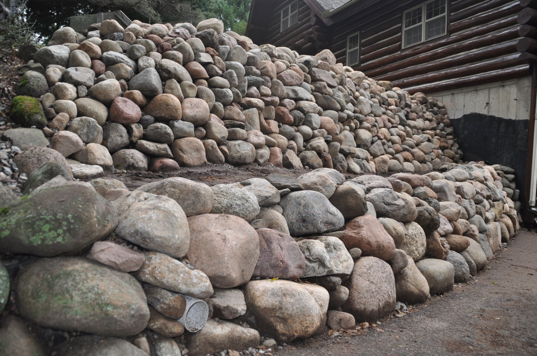 Natural Stone Retaining Wall Construction Wiltrout Nursery