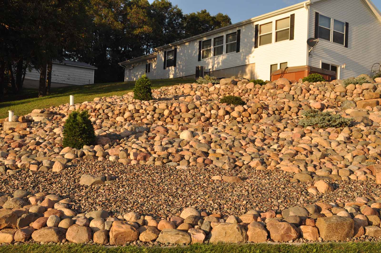 Rock Garden Construction -- Wiltrout Nursery Chippewa Falls, WI