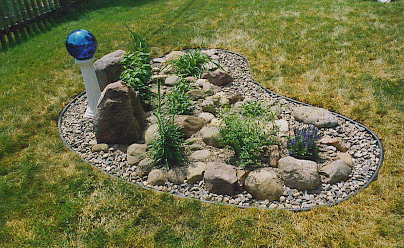 Rock Garden Construction ,, Wiltrout Nursery Chippewa Falls, WI